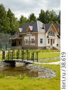 Купить «Коттедж», фото № 38619, снято 10 июня 2006 г. (c) Юлия Перова / Фотобанк Лори