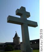 Купить «Псков, памятный крест», фото № 39519, снято 14 сентября 2006 г. (c) A Челмодеев / Фотобанк Лори