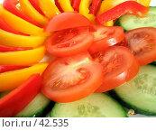 Купить «Нарезанные овощи для праздничного стола», фото № 42535, снято 10 мая 2007 г. (c) Сергей Васильев / Фотобанк Лори
