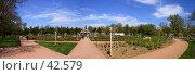 Купить «Розарий Таврического Национального университета», фото № 42579, снято 20 августа 2018 г. (c) Михаил Баевский / Фотобанк Лори