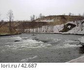 Купить «Сильное течение горной реки», фото № 42687, снято 12 мая 2007 г. (c) Maxim Kamchatka / Фотобанк Лори