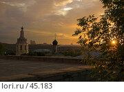 Купить «Закат на Воробьевых Горах», фото № 45183, снято 7 августа 2006 г. (c) Юрий Соколов / Фотобанк Лори