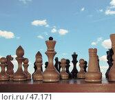 Деревянные шахматы. Стоковое фото, фотограф Коннов Георгий / Фотобанк Лори