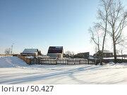 Купить «Заводоуковск. Зимний сельский пейзаж», фото № 50427, снято 24 сентября 2018 г. (c) Александр Тараканов / Фотобанк Лори