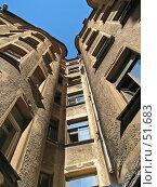 Купить «Двор-колодец в Санкт-Петербурге», фото № 51683, снято 2 июля 2006 г. (c) Надежда Болотина / Фотобанк Лори