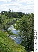 Купить «Суздаль. Река Каменка. Лето», фото № 53239, снято 11 июня 2007 г. (c) Julia Nelson / Фотобанк Лори