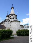 Купить «Суздаль. Успенская трапезная церковь Спасо-Евфимиева монастыря», фото № 53995, снято 11 июня 2007 г. (c) Julia Nelson / Фотобанк Лори