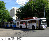 Купить «Белый троллейбус», фото № 54167, снято 2 марта 2006 г. (c) Артемьева Анна / Фотобанк Лори