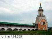 Библиотечная (Свечная) башня ограды Борисоглебского монастыря. Стоковое фото, фотограф Борис Никитин / Фотобанк Лори