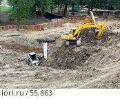 Купить «Строительные работы», фото № 55863, снято 24 июня 2007 г. (c) Тим Казаков / Фотобанк Лори