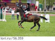 Купить «Соревнования по конкуру», фото № 56359, снято 14 мая 2006 г. (c) Лисовская Наталья / Фотобанк Лори