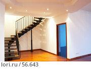 Купить «Интерьер. гостиная. лестница на второй уровень», фото № 56643, снято 2 ноября 2006 г. (c) Ирина Мойсеева / Фотобанк Лори