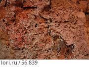 Купить «Древние натеки на розовой скале», фото № 56839, снято 5 июля 2007 г. (c) Eleanor Wilks / Фотобанк Лори