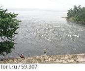 Купить «Удильщики на реке Вуоксе, под насыпью железнодорожного моста», фото № 59307, снято 2 августа 2004 г. (c) Элеонора Лукина (GenuineLera) / Фотобанк Лори