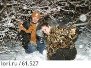 Купить «Зимние игры. Winter entertainments», фото № 61527, снято 21 мая 2018 г. (c) Морозова Татьяна / Фотобанк Лори