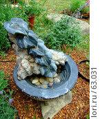 Купить «Декоративный фонтанчик для сада», фото № 63031, снято 17 июля 2007 г. (c) Тим Казаков / Фотобанк Лори