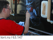 Купить «Аэрография на двери грузовика», фото № 63147, снято 13 июня 2007 г. (c) Крупнов Денис / Фотобанк Лори