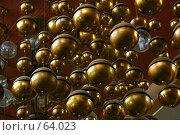 Купить «Металлическая композиция из подвешенных шаров», фото № 64023, снято 11 июня 2005 г. (c) Harry / Фотобанк Лори
