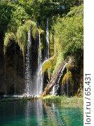 Купить «Водопад, Плитвицкие озера, Хорватия», фото № 65431, снято 15 июля 2007 г. (c) Golden_Tulip / Фотобанк Лори