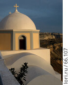 Купить «Церковь на острове Санторини, Греция», фото № 66107, снято 8 июня 2007 г. (c) Марина Грибок / Фотобанк Лори