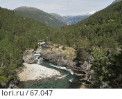 Купить «Горная река», фото № 67047, снято 20 июля 2006 г. (c) Михаил Лавренов / Фотобанк Лори