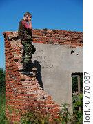 МТС берет здесь! Проблемы сотовой связи в сельской местности (2007 год). Редакционное фото, фотограф Елена Филиппова / Фотобанк Лори