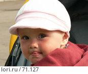 Купить «Ребенок показывает язык», фото № 71127, снято 14 июля 2007 г. (c) Огульчанский Александер / Фотобанк Лори