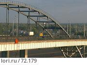 Купить «Фрагмент моста через реку Белую, город Уфа», фото № 72179, снято 21 марта 2019 г. (c) Талдыкин Юрий / Фотобанк Лори