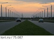Купить «Новая объездная дорога в городе Ставрополе», фото № 75087, снято 6 мая 2007 г. (c) Игорь Веснинов / Фотобанк Лори