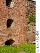 Купить «Стена бастиона Панцерлакс крупным планом», фото № 76407, снято 4 августа 2007 г. (c) Моисеева Галина / Фотобанк Лори