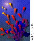 Компьютерные цветы. Стоковая иллюстрация, иллюстратор Игорь Олюнин / Фотобанк Лори