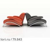 Купить «Два кресла на белом фоне», иллюстрация № 79843 (c) Hemul / Фотобанк Лори