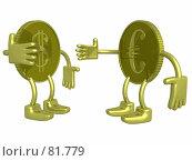 Золотой доллар и евро. Стоковая иллюстрация, иллюстратор Ильин Сергей / Фотобанк Лори
