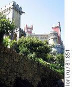 Купить «Дворец Пена в Синтре», эксклюзивное фото № 81851, снято 29 июля 2007 г. (c) Михаил Карташов / Фотобанк Лори