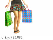 Купить «Девушка с покупками», фото № 83083, снято 14 мая 2007 г. (c) Андрей Армягов / Фотобанк Лори