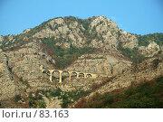 Купить «Железнодорожный мост в Черногории», фото № 83163, снято 25 сентября 2018 г. (c) Fro / Фотобанк Лори