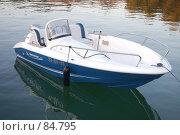 Купить «Лодка на воде, привязанная к пирсу», фото № 84795, снято 8 июля 2007 г. (c) Golden_Tulip / Фотобанк Лори