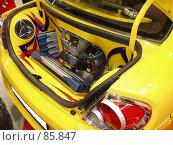 Звуковая система в багажнике автомобиля. Стоковое фото, фотограф Вячеслав Финагин / Фотобанк Лори