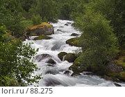 Купить «Горный поток», фото № 88275, снято 17 июля 2006 г. (c) Михаил Лавренов / Фотобанк Лори
