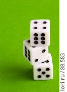 Купить «Игральные кости (dices)», фото № 88583, снято 27 октября 2006 г. (c) Минаев С.Г. / Фотобанк Лори
