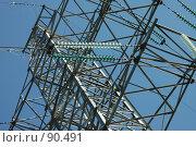 Купить «ЛЭП на фоне неба. Фрагмент», фото № 90491, снято 13 августа 2005 г. (c) Куликова Татьяна / Фотобанк Лори
