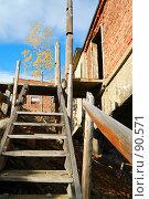 Купить «Деревянная лестница», фото № 90571, снято 27 сентября 2007 г. (c) Валерий Александрович / Фотобанк Лори