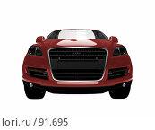 Купить «Красная машина на белом фоне», иллюстрация № 91695 (c) ИЛ / Фотобанк Лори