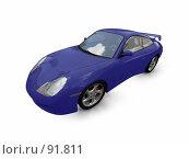 Купить «Синий суперавтомобиль», иллюстрация № 91811 (c) ИЛ / Фотобанк Лори