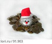 Купить «Гномик на монетах», фото № 91903, снято 21 мая 2018 г. (c) Евгений  Иванович Подгаевский / Фотобанк Лори