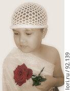 Купить «Девочка с розой», фото № 92139, снято 24 июня 2007 г. (c) Квитченко Лев / Фотобанк Лори