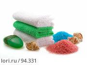 Купить «Spa-уход: полотенца, мыло, соль для ванн, ракушки, на белом фоне», фото № 94331, снято 6 октября 2007 г. (c) Ольга Красавина / Фотобанк Лори