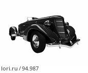 Купить «Черный ретроавтомобиль», иллюстрация № 94987 (c) ИЛ / Фотобанк Лори