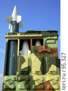 Купить «Ракеты ПВО, экспозиция на МАКС 2007», эксклюзивное фото № 95327, снято 25 августа 2007 г. (c) Журавлев Андрей / Фотобанк Лори