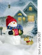 Купить «Новогодняя открытка», фото № 99007, снято 12 января 2006 г. (c) Сергей Лаврентьев / Фотобанк Лори